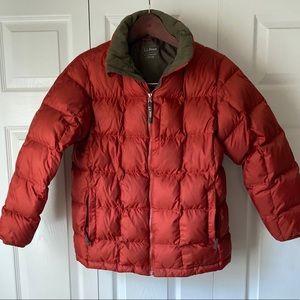 LL Bean Down Puffer Jacket Boys L / Women S